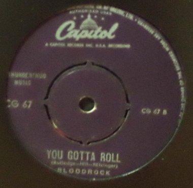 BLOODROCK - Jessica / You Gotta Roll - 7inch x 1